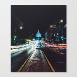 Traffic On North Capitol Canvas Print