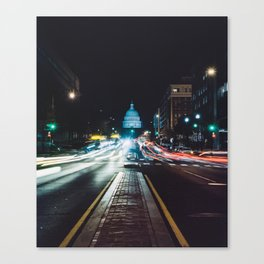 Traffic On North Capitol Canvas Print