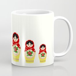 Red russian matryoshka nesting dolls Coffee Mug