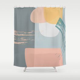 patchworks Shower Curtain