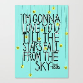 Till The Stars Fall Canvas Print