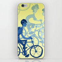 bicycles iPhone & iPod Skins featuring Bicycles by Van Huynh