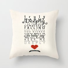 One Direction: Truly Madly Deeply Throw Pillow