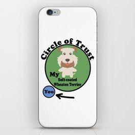 Circle Of Trust Cute Soft Cute coated Wheaten Terrier iPhone Skin