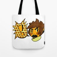 sticker Tote Bags featuring Chip sticker by marvelousghost