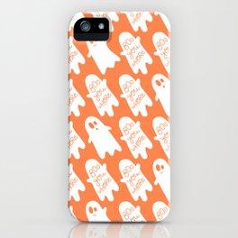 mean ghosties (orange) iPhone Case