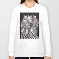 concert Long Sleeve T-shirts featuring Alice's After Tea Concert by Judith Clay
