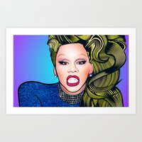 rupaul Art Prints featuring RUPAUL by Alli Vanes