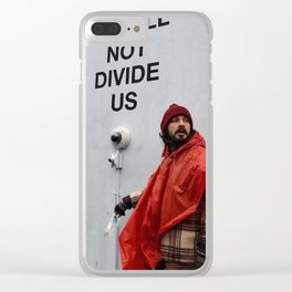 "Shia LaBeouf ""He Will Not Divide Us Clear iPhone Case"