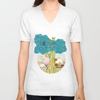 insect V-neck T-shirts featuring Insect Sushi by nzall