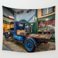 truck Wall Tapestries featuring Vintage Truck by Adrian Evans