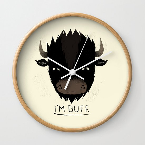 Buff. Wall Clock