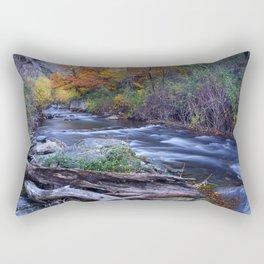 Mountain river. After raining. Night photography. Rectangular Pillow