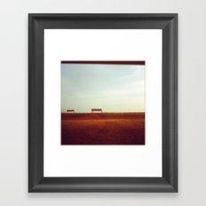 lake superior morning Framed Art Print
