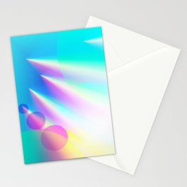 Rainbow Light Pillars Stationery Cards