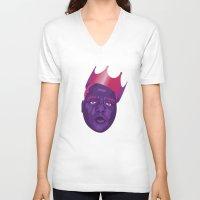 biggie smalls V-neck T-shirts featuring Biggie Smalls by David Savelberg