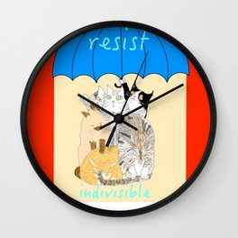 resist. indivisible Wall Clock