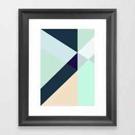 GREEN LOVES BLUE Framed Art Print