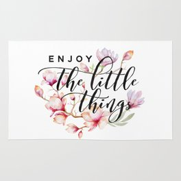 Enjoy the little things magnolias Rug