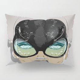 Mugshot 4:00 am Surreal Graffiti Girl Portrait with Glasses Pillow Sham