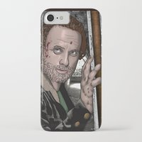 rick grimes iPhone & iPod Cases featuring Rick Grimes  Walking Dead by Kenneth Shinabery