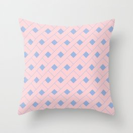 Rose Quartz and Serenity Geometric Throw Pillow