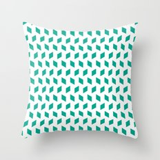 rhombus bomb in emerald Throw Pillow