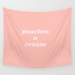 peaches n cream Wall Tapestry