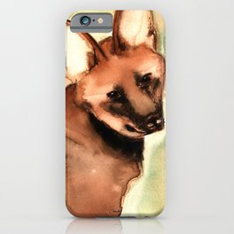 Watercolor Guará wolf - Wild dog iPhone Case