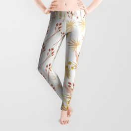 Mari's Bouquet of Dried Flowers Leggings