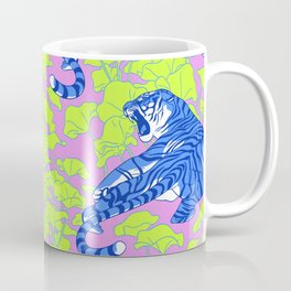 Neon Tigers and Water Lillies. Coffee Mug