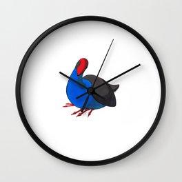 Kooky Pukeko 2/4 Wall Clock