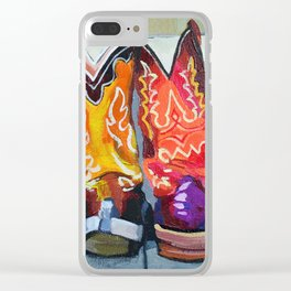Boot Heels Clear iPhone Case