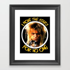 Labyrinth  |  I Move The Stars For No One   Framed Art Print