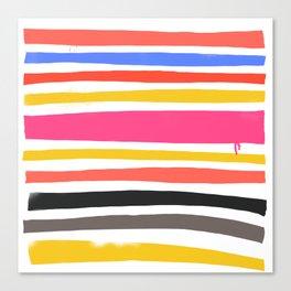 Streifen 001 / Multicolor Stripe Pattern Canvas Print