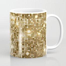 Golden Metallic Glitter Sequins Coffee Mug