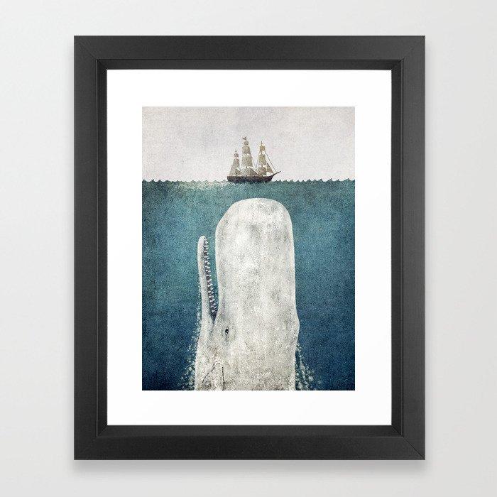 The Whale - vintage Framed Art Print