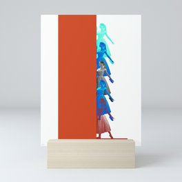 Bardot and the Wall Mini Art Print