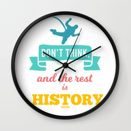 Hobby Bungee Jumping Extreme Sports Wall Clock
