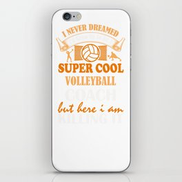 Volleyball Coach Design Coaches Girls Team Image iPhone Skin