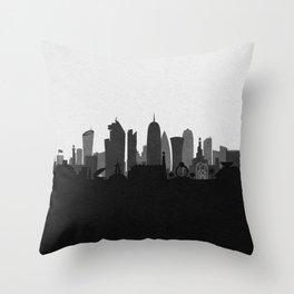 City Skylines: Doha Throw Pillow