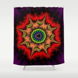 Mandelbrot Mandala Fractal Art Print Shower Curtain