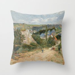 Paul Gauguin - Entrance to the Village of Osny (1883) Throw Pillow