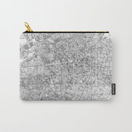 Vintage Map of Berlin Germany (1877) BW Carry-All Pouch