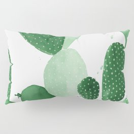 Green Paddle Cactus II Pillow Sham