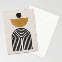 Mid Century Modern Graphic Stationery Cards