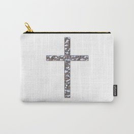 Chrome Crucifix Solid Carry-All Pouch
