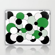 Bubbles - green, black, gray and white Laptop & iPad Skin