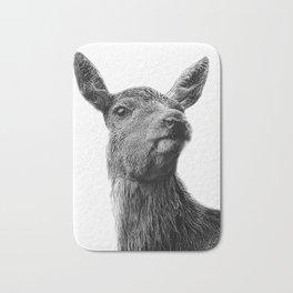 black and white wild deer Bath Mat
