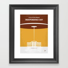 No249 My INDEPENDENCE DAY minimal movie poster Framed Art Print
